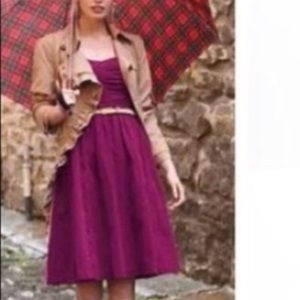 Anthropologie HD in Paris purple strapless dress 8